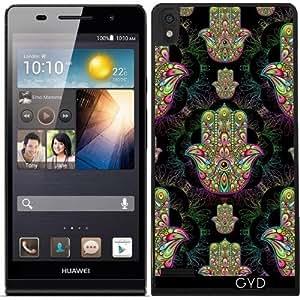 Funda para Huawei Ascend P6 - Hamsa Amuleto Mano Psicodélica by BluedarkArt