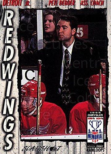 - (CI) Peter DeBoer Hockey Card 1995-96 Slapshot Memorial Cup 100 Peter DeBoer