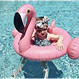 Baby Pink Flamingo Pool Float, Inflatable Swimming Ring, Summer Pool Toy