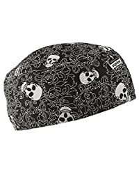 Chill-Its 6630 Absorptive Moisture-Wicking Skull Cap, Skulls