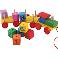 ONBN® Kids Toys Wooden Train Set For Kids ,Eco Friendly Innovative Toys For Kids ,Kids Learning Toys Gift Toys For Girls And Boys | Toys For 2,3,4,5,6,7+ Year Old Boys And Girl ,Education Learning Toys(wooden train)