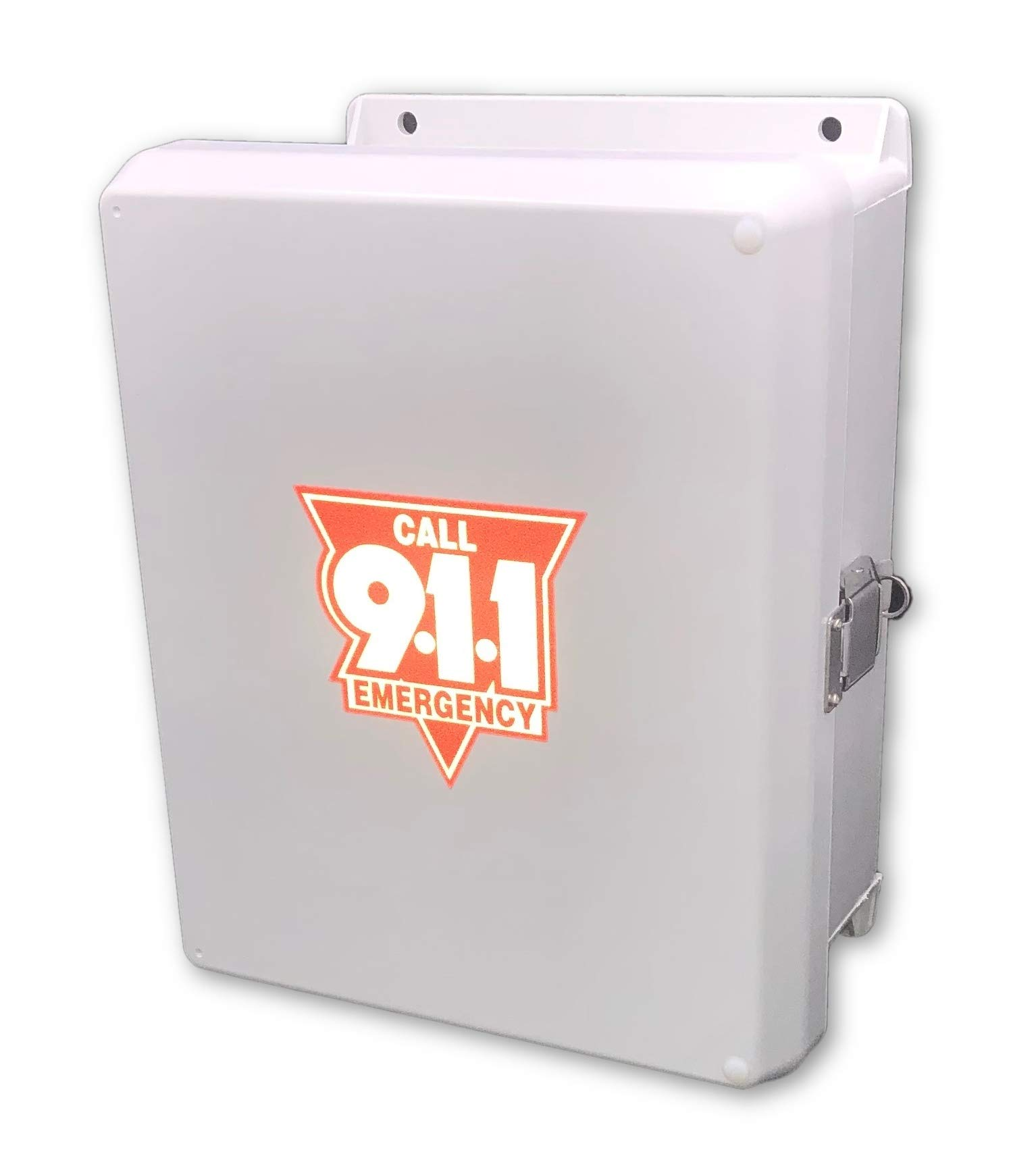 Emergency Pool Phone - 911 Only Cellphone with Weatherproof Outdoor Enclosure Phone Box Cabinet by AA Communications Pool Phone