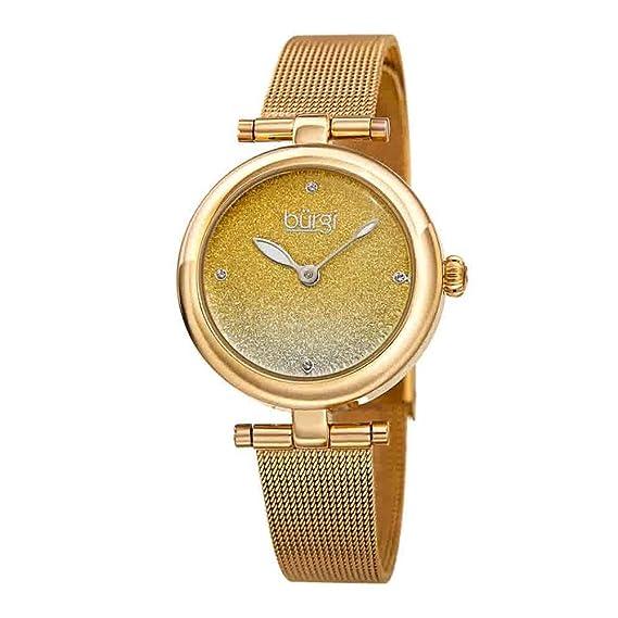 f292e7c84f6c BurgiBUR231 - Reloj de Pulsera para Mujer, Correa de Malla de Acero ...