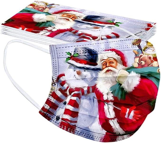 10 St/ück Herren Damen Bandanas Einweg 3-lagig Atmungsaktiv Erwachsene Outdoor Accessory mit Weihnachten Motiv Halstuch Lustige Multifunktionstuch