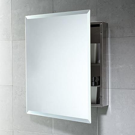 Armadietto Contenitore Con Specchio Per Bagno In Acciaio Inox Amazon It Casa E Cucina