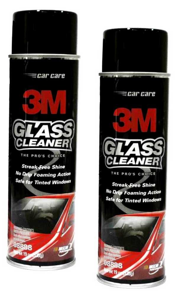 3M Glass Cleaner - Multi Surface Use, Auto & Home 2 Pack - 19oz Aerosol 08888