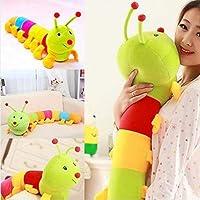 CHOUREN Cute Inchworm Soft Caterpillar Toy Colored Developmental Child Baby Doll 150CM,Variations:50cm