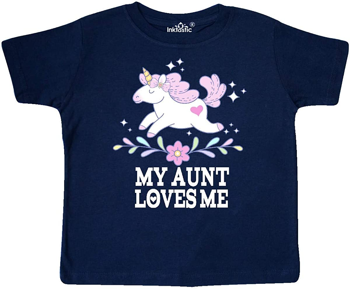 inktastic My Aunt Loves Me Unicorn Outfit Toddler T-Shirt