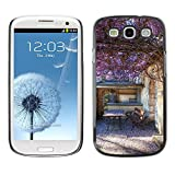 LASTONE PHONE CASE / Slim Protector Hard Shell Cover Case for Samsung Galaxy S3 I9300 / Cool Sun Summer Purple Building