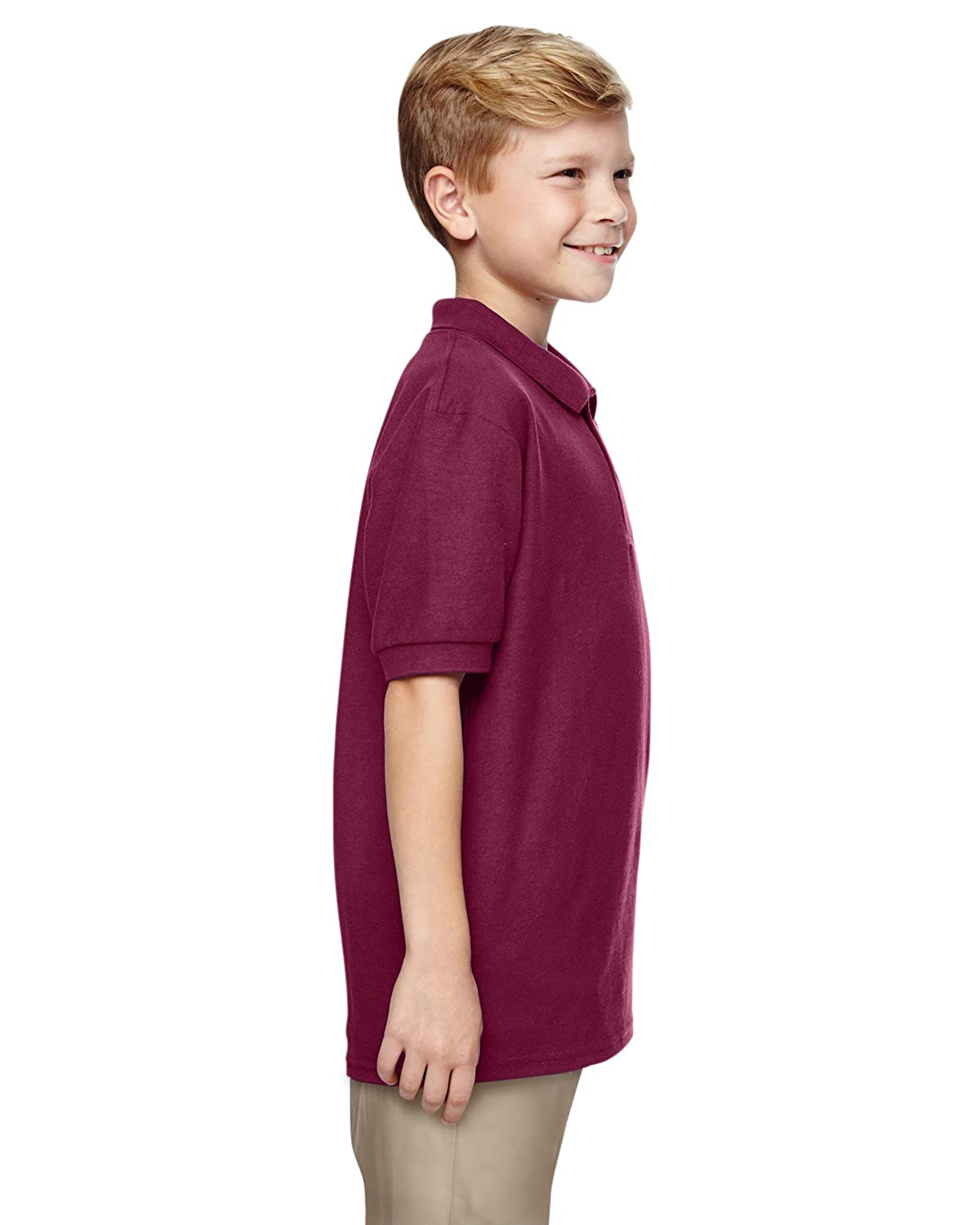 Gildan Big Boys Moisture Wicking Bottom Hem Pique Polo Shirt G72800B
