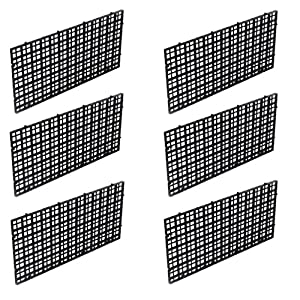 OBANGONG 6 Pcs Grid Isolate Board Divider Fish Tank Bottom Black Filter Tray Aquarium Crate 10