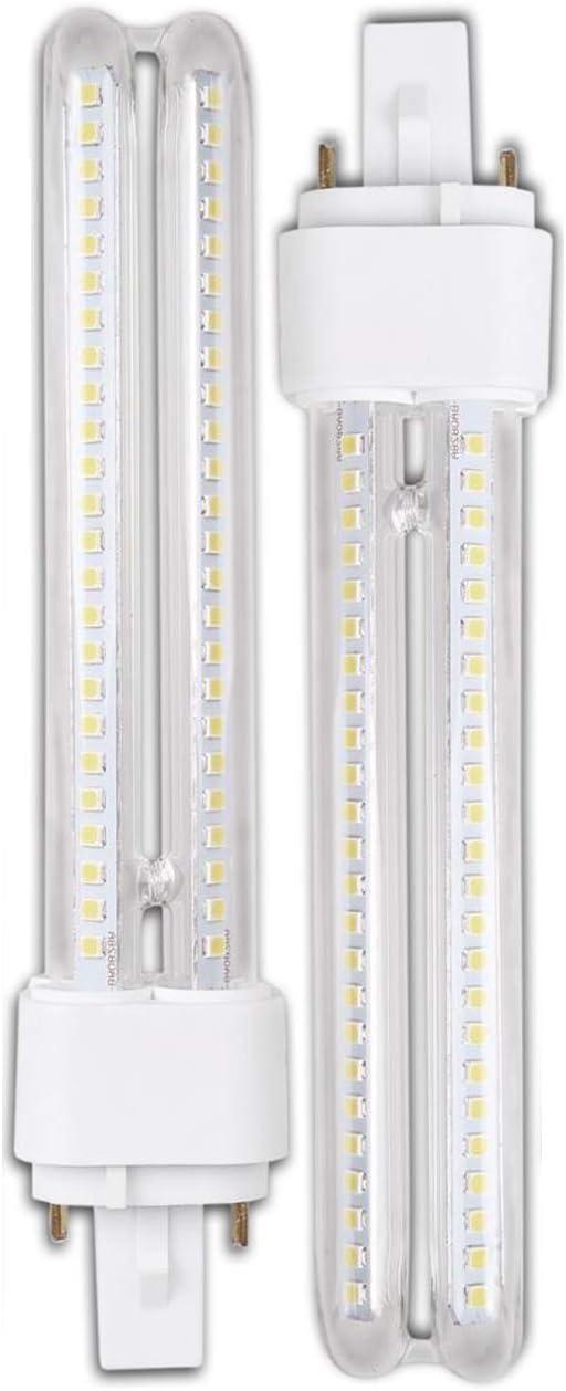 Genetic H268 15W- Pack 2 Bombillas PLC LED 15W Luz Fria A+ G24 2Pin H268: Amazon.es: Iluminación