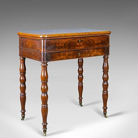 London Fine Antiques - Mesa de Costura (Madera de Caoba, diseño ...