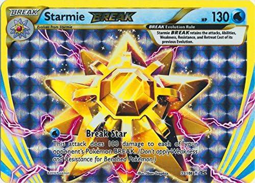 Starmie BREAK 32//108 Pokemon XY Evolutions Full Art Holofoil Rare New Water