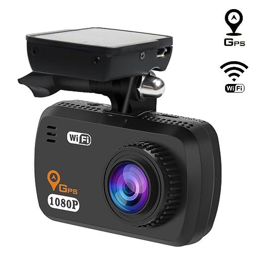 22 opinioni per TOGUARD Telecamera per auto WIFI Dash Cam GPS Full HD 1080P, Telecamera da