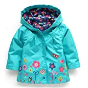 Pollyhb Boys Girls Raincoat Coat, Kids Hooded Outerwear Children Clothing Jacket (12-18 Months, Green)