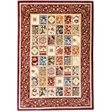 Kerman Fantasy Turkish Collection Red Area Rug 4x6