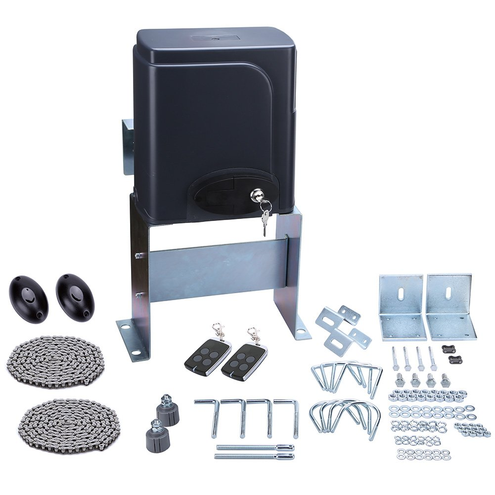 Gtmaster Sliding Automatic Gate Opener Kit Driveway Security Infrared For Door Operator Hardware With Two Transmitters And