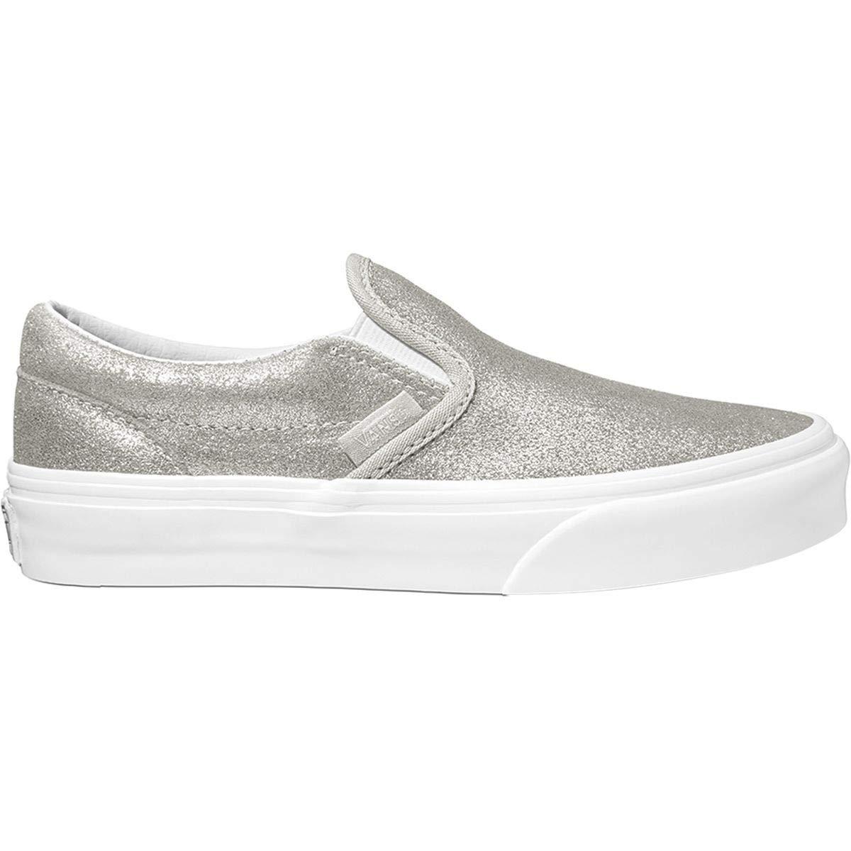 vans kids slip on white
