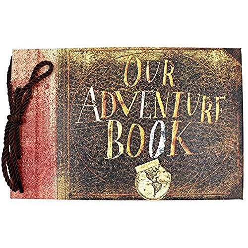 XDOBO Our Adventure Book Pixar Up Handmade DIY Photo Album Anniversary Scrapbook Wedding Photo Album 11.6x7.5 Inches, 80 Pages, with 5 postcards and 3 photo corners (Corners Page Christmas)