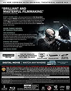 The Dark Knight Rises (Ultra HD/BD) [Blu-ray] at Gotham City Store