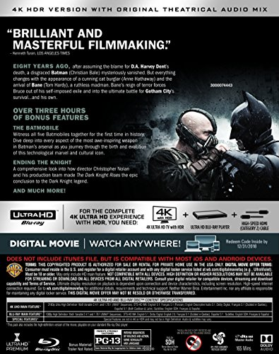 The Dark Knight Rises (Ultra HD/BD) [Blu-ray] at Gotham City Store