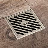 Yunjie Floor Drain, Square Shower Drain Full Copper Deodorant Anti-Backwater Insect-Proof for Bathroom Shower Room Toilet Laundry Garden Outdoor