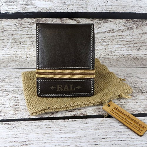 Personalized Bi Fold Mens Wallet Monogrammed - Gifts for Men - Mans Wallet - Dad - Grandfather (899)