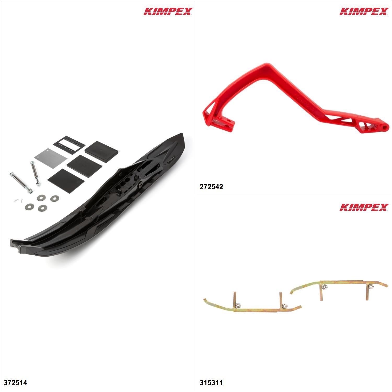 Kimpex - Arrow Ski Kit - Black, Polaris Sport 2000-02