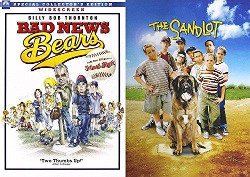 Baseball Double Family Fun 2-Pack DVD Bad News Bears & The Sandlot Sport Bundle Movie Feature set