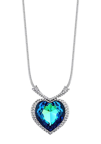 Buy Ananth Jewels Swarovski Elements Blue Crystal Rhinestone Titanic Ocean  Heart Pendant Necklace for Women Online at Low Prices in India   Amazon  Jewellery ... 4f41502472