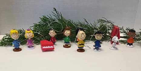 peanuts movie classic figure set of 12 christmas ornaments with snoopy woodstock dog house