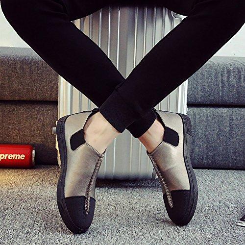 Nr. 66 Heren Heren Slip-on Flats Loafers Casual Bootschoenen # 2 Goud