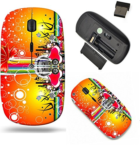 Price comparison product image Liili Wireless Mouse Travel 2.4G Wireless Mice with USB Receiver, Click with 1000 DPI for notebook, pc, laptop, computer, mac book Christmas and music emotions gift box background card Photo 4896838