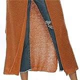 HILEELANG Women Long Open Front Drape Cardigans