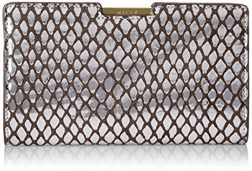 MILLY Metallic Reptile Small Frame Clutch by MILLY