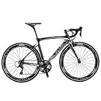 SAVA Vélo de Route de Fibre de Carbone 700C Shimano 3000 18-Vitesses Système Vélo Ultraléger