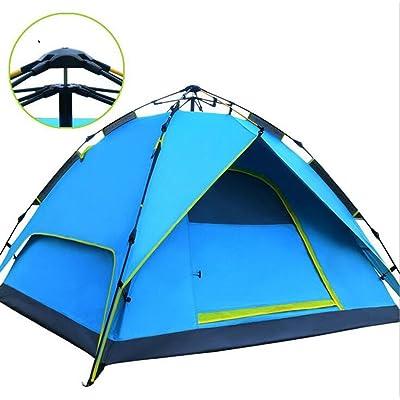 EE-Tente De Camping Automatique Double 2-3 Personnes Rapide Pop-Up Tente De RandonnéE Familiale éTanche Et Sac De Transport