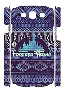 Creative American Disney signs Case for Samsung Galaxy S3 I9300,Forever young phone Case for Samsung Galaxy S3 I9300.