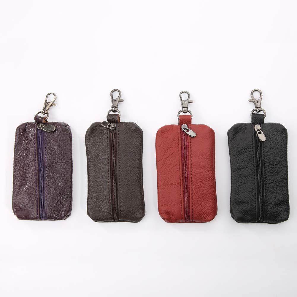 63bfa1b80d91 YUSHHO56T Interior Decoration Key Wallet Genuine Leather Key Holder ...