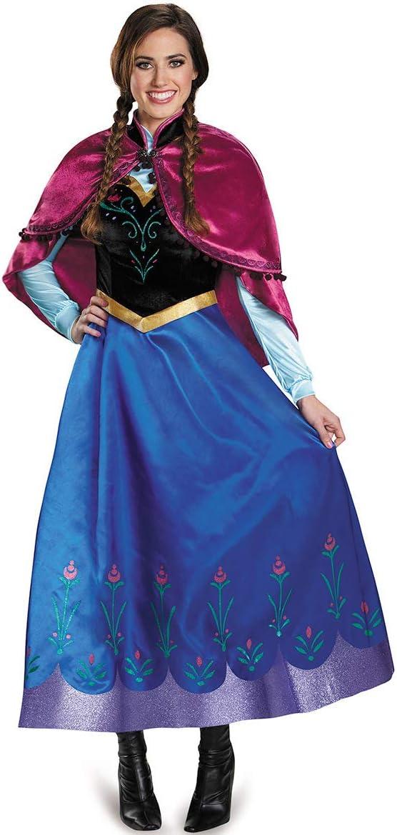 fixiyue Halloween Traje Hielo-Hielo Extra/ño Borde Cosplay Anime Anna Falda Juego De rol Queen Vestido De Actuaci/ón S Color de la Imagen