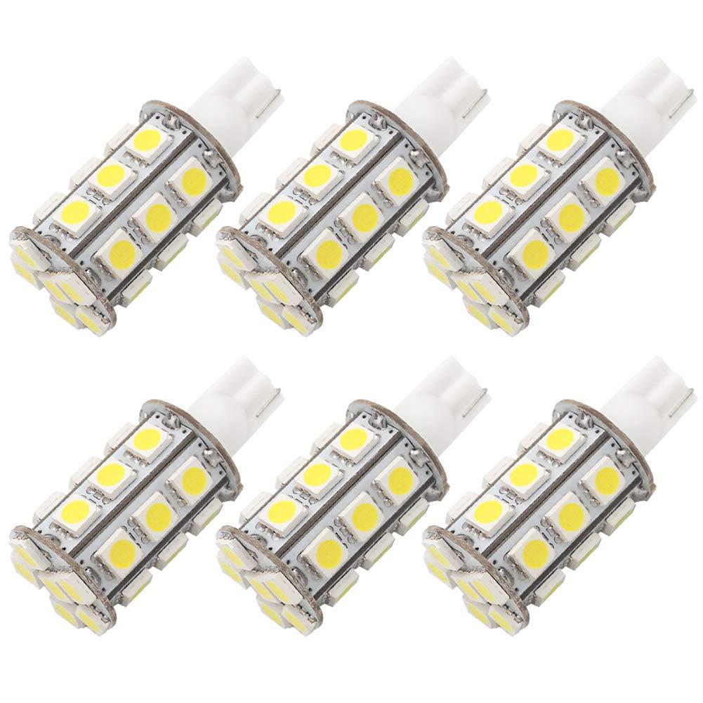GRV T10 921 194 Wedge 24-5050 SMD LED Bulb lamp Super Bright Cool White AC/DC 12V ~28V Pack of 6