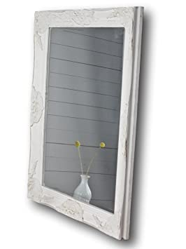 Miroir Blanc Style Ancien 82 X 62 X Miroir De Salle De Bain En Bois Style Baroque Sur Pied