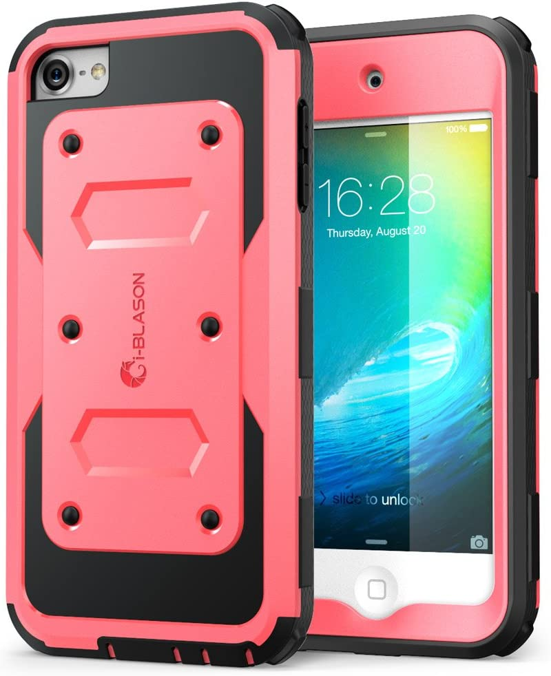 i-Blason Armorbox Case Designed for iPod Touch 7/6/5, Full Body Case with Built-in Screen Protector for Apple iPod Touch 5th/6th/7th Generation, Pink