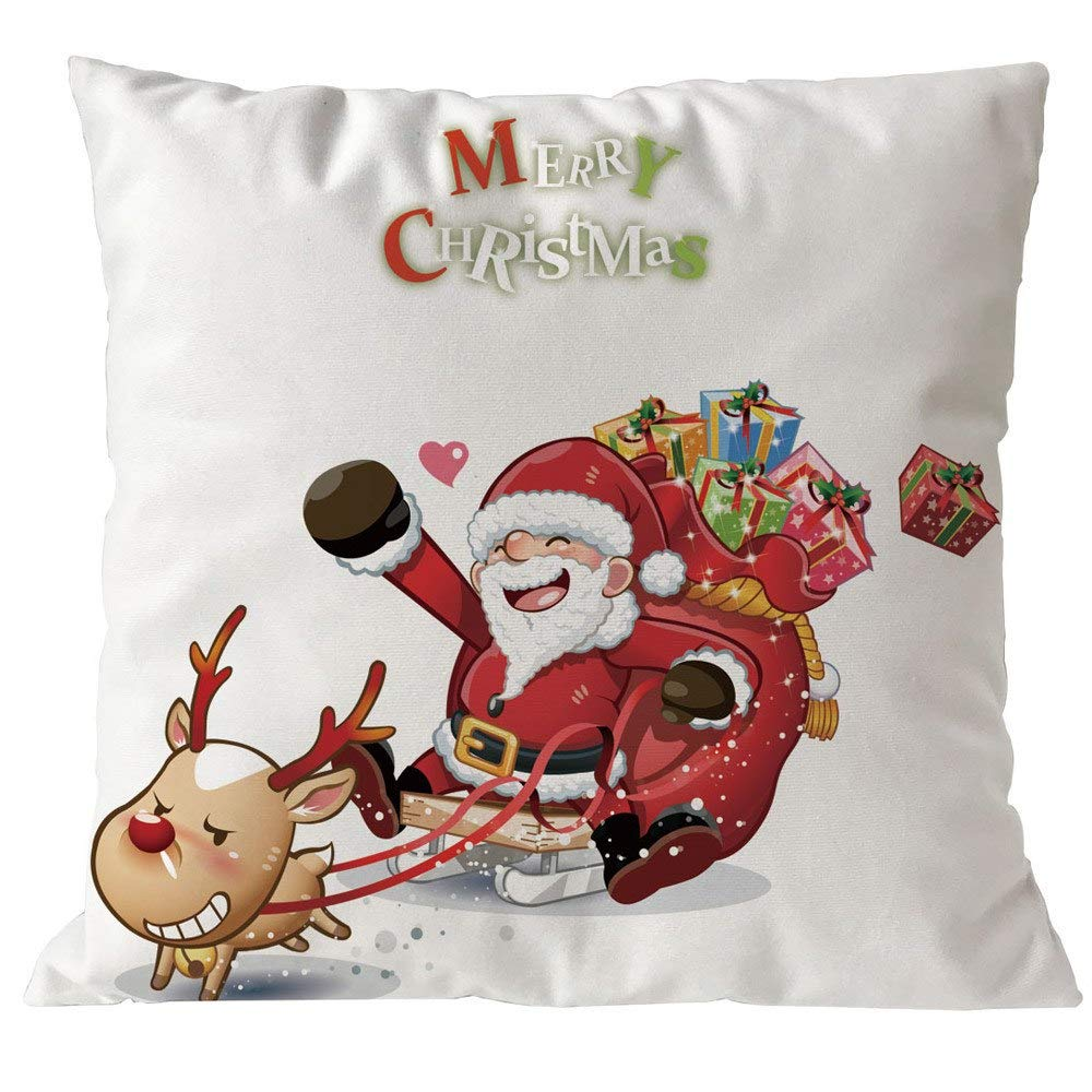 Amazon.com: FelixStore Merry Christmas Pillowcases Linen ...