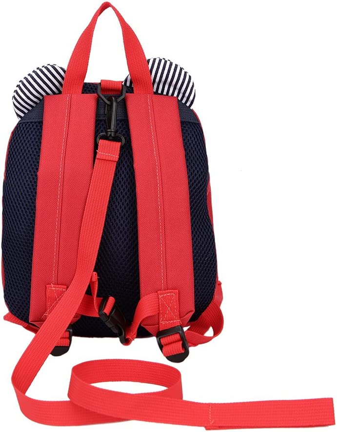 Sundlight Kids Backpack Oxford Cloth Polyester Cartoon Children School Bag with Anti-lost Traction Rope Perfect for 1-3 Aged Years Old