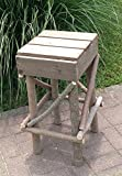 Rustic Plank Top Kentucky Willow Stool. free shipping