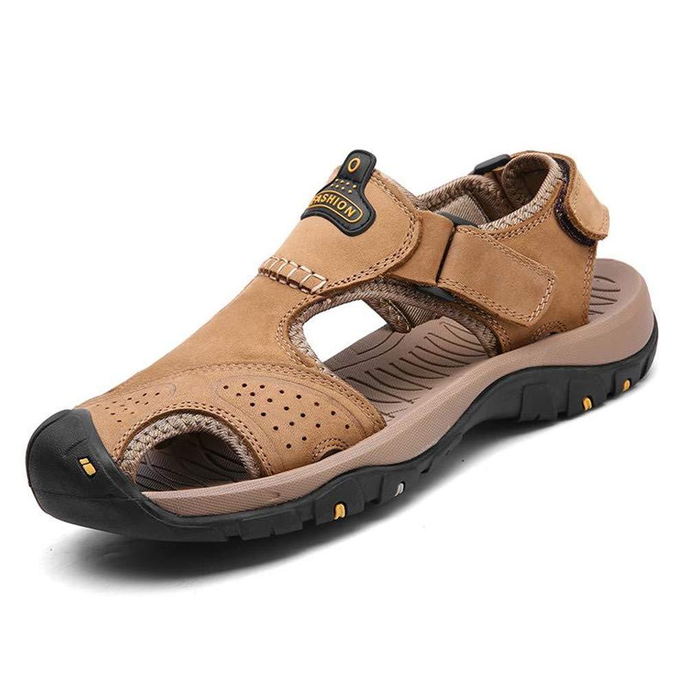Men Sandals Genuine Split Leather Men Beach Shoes Casual Shoes Slippers Sneakers Summer Shoes Flip Flops