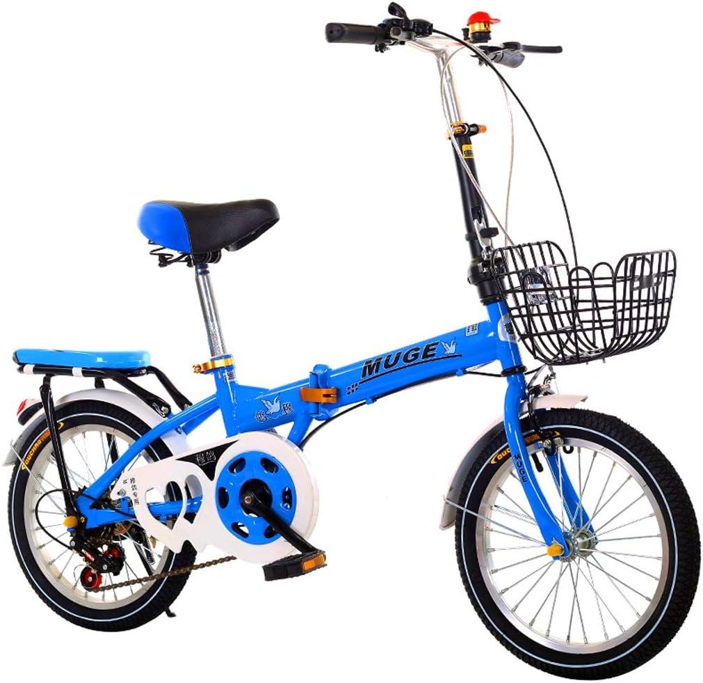 Bxiao Bicicleta Plegable de 16 a 20 Pulgadas, Velocidad Variable, niños, Hombres y Mujeres, niños, Estudiantes, Adultos, Viajes, Bicicletas portátiles ultraligeras: Amazon.es: Deportes y aire libre