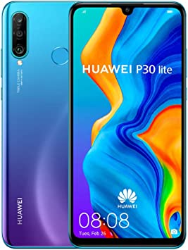 Huawei P30 Lite (128GB, 4GB RAM) 6.15 Display, AI Triple Camera, Dual SIM Global GSM Factory Unlocked MAR-LX3A - International Version (Peacock Blue)
